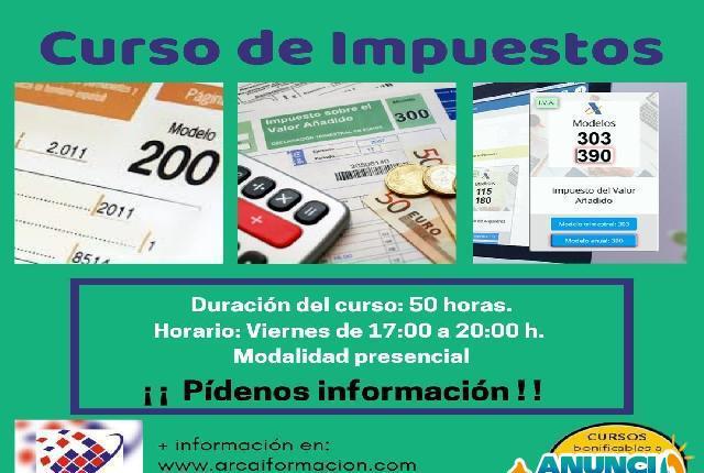 Curso presencial de impuestos - madrid