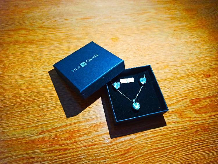 Fina garcia silver jewelry set (plata de 1a ley)