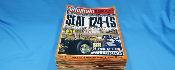 Lote de revistas autopista - año 1973 completo a falta de