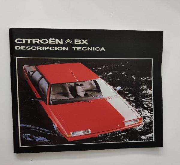 Manual de descripción técnica original del citroën bx 14