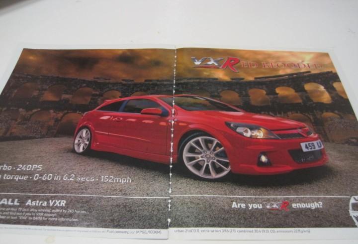 Opel astra vxr: anuncio publicidad 2005 -vauxhall astra vxr-