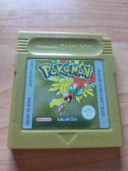 Pokemon oro de gameboy