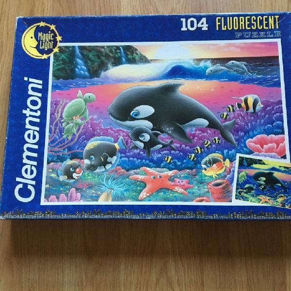 Puzzle ballena con cria