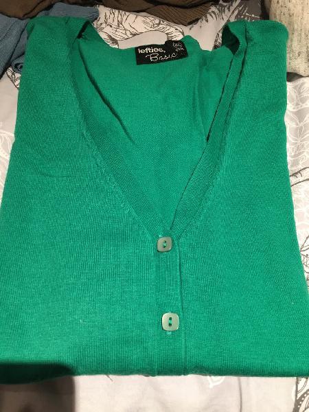 Chaqueta cardigan verde