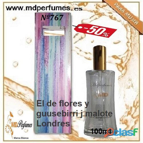 Oferta Perfume Mujer Nº767 El de flores y guusebirri j malote Londres Alta Gama 100ml 10€