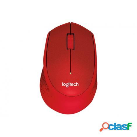 Mouse logitech wireless m330 silent plus red