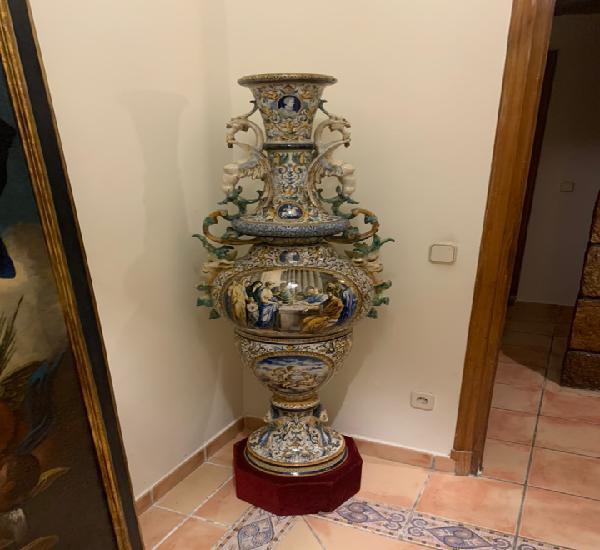 Gran jarrón italiano estilo renacimiento del siglo xix