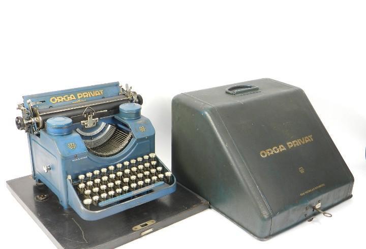 Maquina de escribir orga privat nº2 año 1923 azul