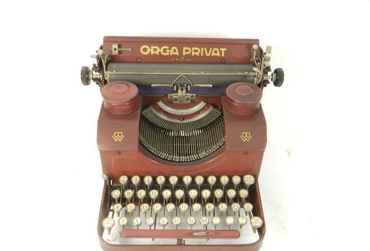 Maquina de escribir orga privat nº2 año 1923 granate