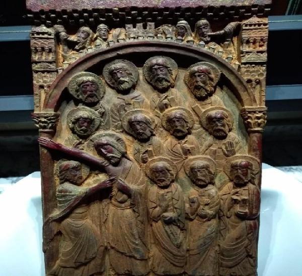 Tabla estilo románico duda de santo tomás de 46x26 en