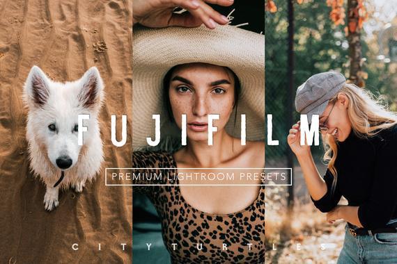 Bright vibrant fujifilm lightroom presets pack for desktop &