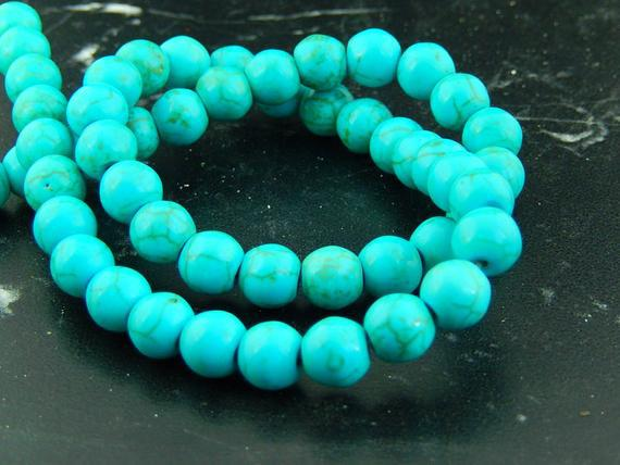 Perlas azul turquesa 4.6.8.10mm