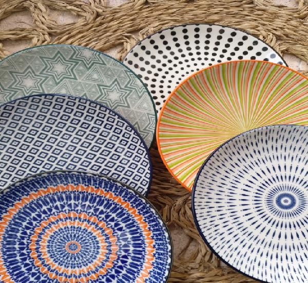 6 centros de mesa porcelana