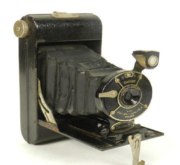 Camara-antigua a fuelle coronet-1935-made in england by co.