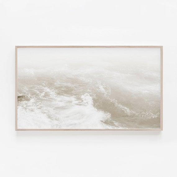 Beach frame art tv, arte digital de playa, arte para tv,