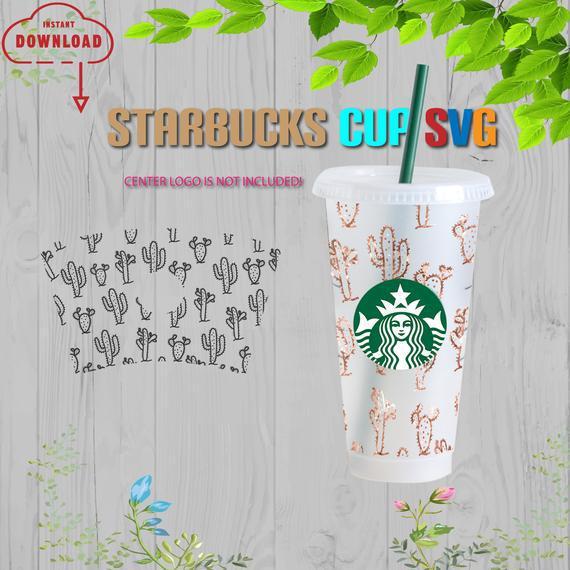 Cactus starbucks taza svg, starbucks cup svg, starbucks wrap