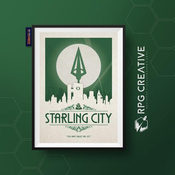 Flecha verde: starling city / dc comics / oliver queen /