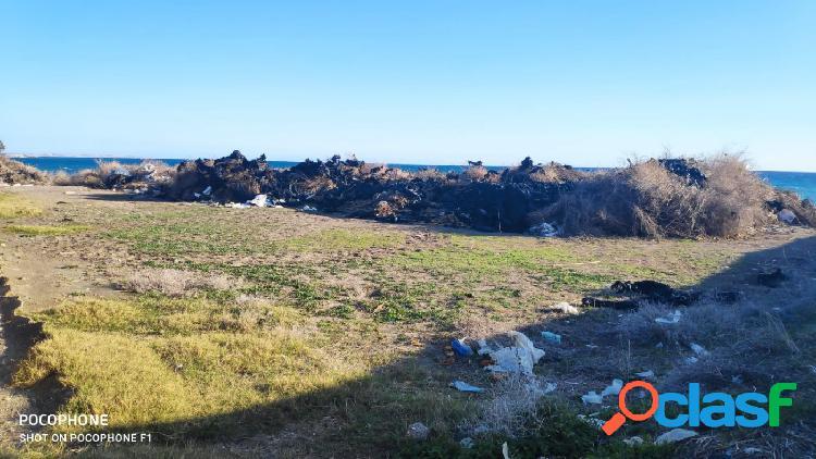 Terreno rústico en adra en 1ª linea de playa