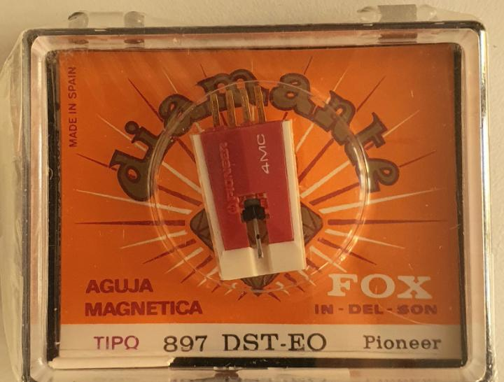 Aguja tocadiscos pioneer - fox/diamante- 897 - dst - e0