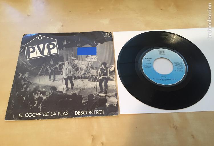 "Pvp - el coche de la plas - single promo radio 7"" - 1982"