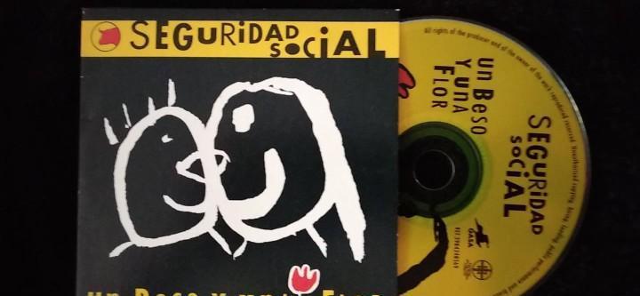 Seguridad social un beso y una flor cd single promo carton