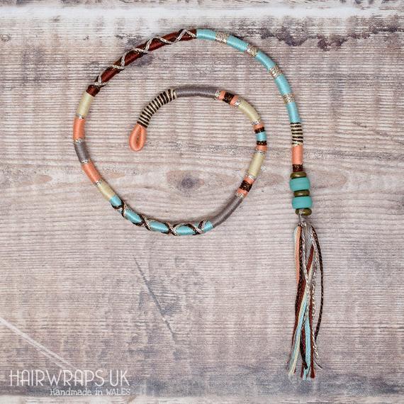 Algodón hair wrap, fae hair braid, festival llevar trenza,