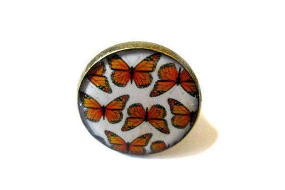 Oranges moths, mariposas, naranja, blanco, primavera,