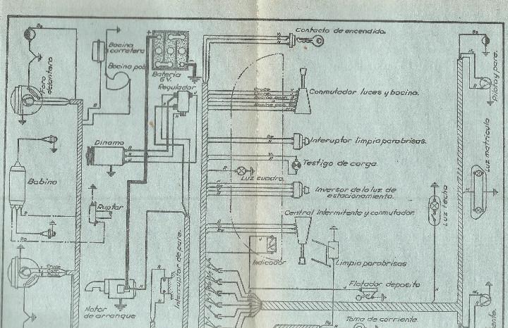 Citroen modelo ami 6 tipo 3 cv esquema electrico reglaje