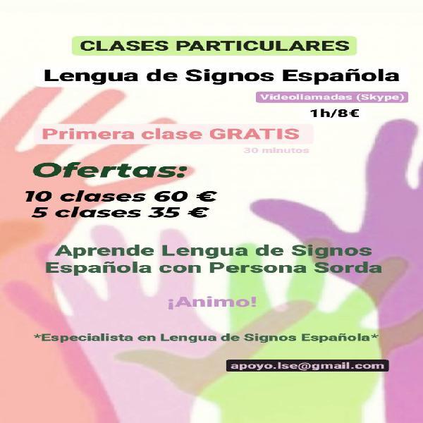Clases particulares lengua de signos española