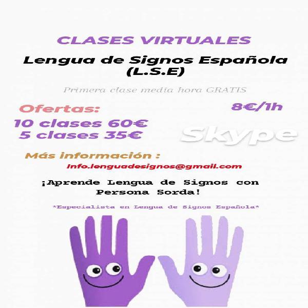 Clases virtuales lengua de signos española