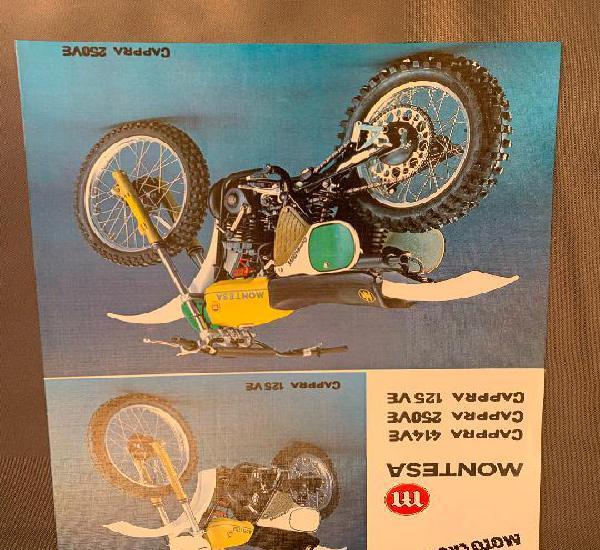Moto montesa cappra 414ve, 250 ve y 125ve catalogo