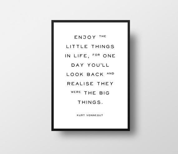 Disfrute de la, pequeñas cosas, kurt vonnegut, cita de