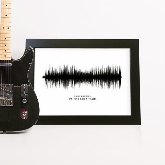 Sonido onda impresión personalizada con su regalo de