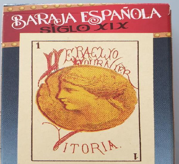 Baraja española siglo xix. reproducción de la 1ª baraja