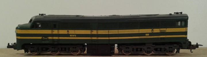 Locomotora lima h0, funcionando, longitud 22cm, envio 4,80