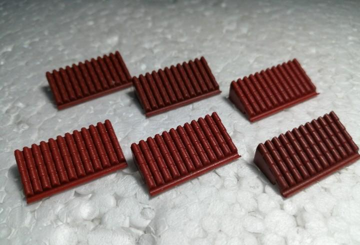 Marron teja micro 3 - tente (6 unidades)