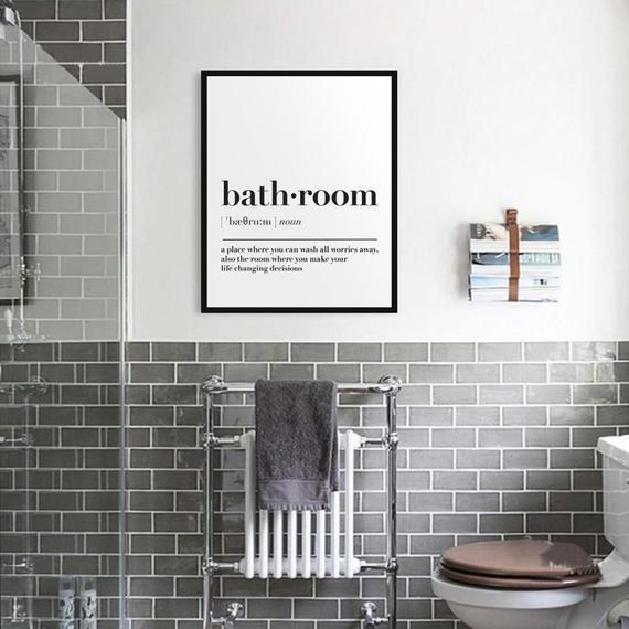 Baño definición pared arte impresión baño imprimible