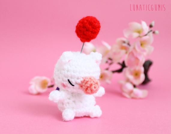 Chibi moogle - moguri amigurumi doll - final fantasy