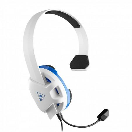 Headset gaming turtle beach recon chat blanco azul ps4