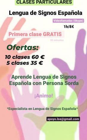 Clases particulares de lengua de signos española (skype