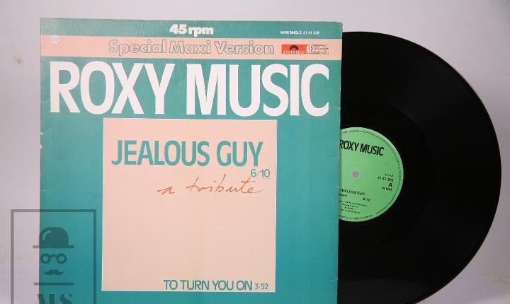 Disco maxi single de vinilo - roxy music / jealous guy, to