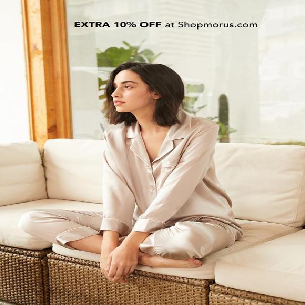 22 mm chic recortado seda pijamas set para mujer / ropa de