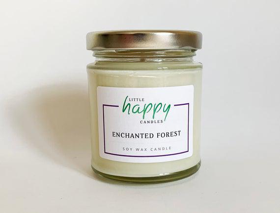 Bosque encantado / vela de cera de soja
