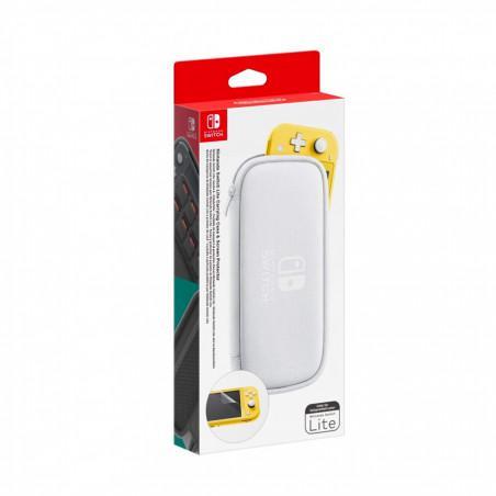 Funda nintendo switch lite blanca + protector de pantalla