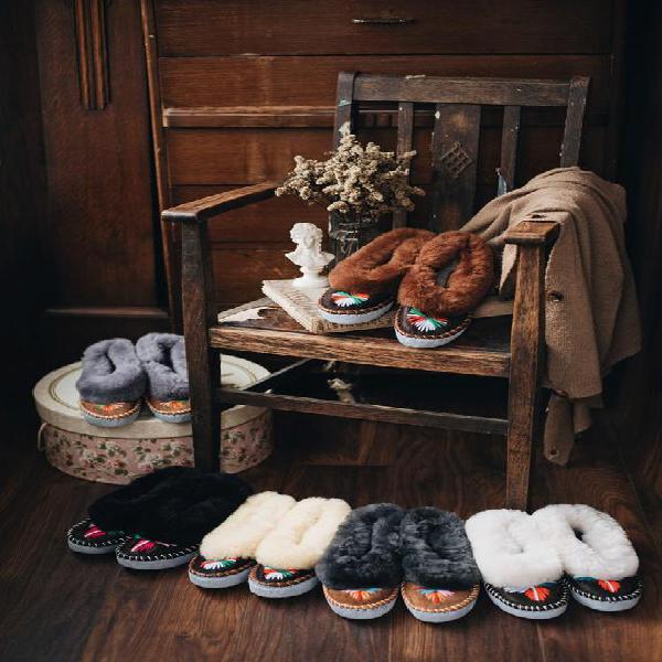 Zapatillas de piel de oveja para mujer lucky dip