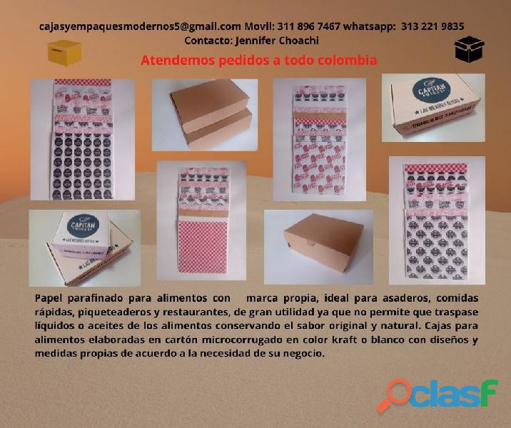 CAJAS DE CARTON Y PAPEL PARAFINADO PARA ALIMENTOS 3