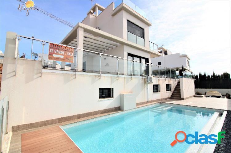 Orihuela costa! villa de lujo con las mejores calidades y piscina privada +enorme parcela