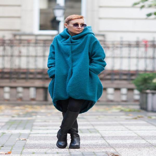 Abrigo para las mujeres / 100% abrigo de lana / abrigo con
