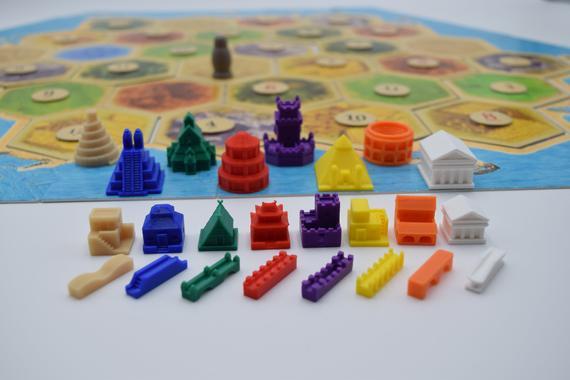 Catan / colonos de catan / piezas de catan / civilizaciones