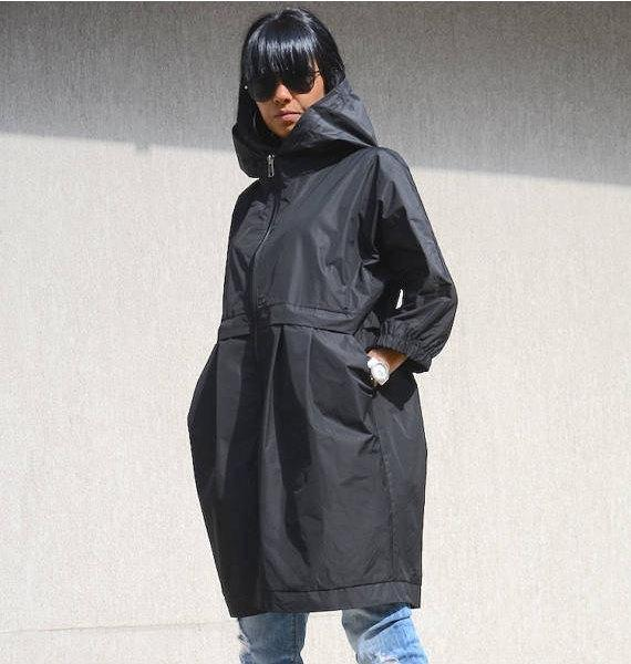Chaqueta impermeable con capucha, chaqueta de noche para las